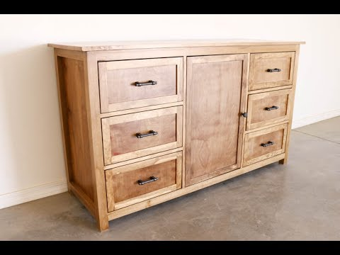 How To Build A Rustic Dresser Youtube