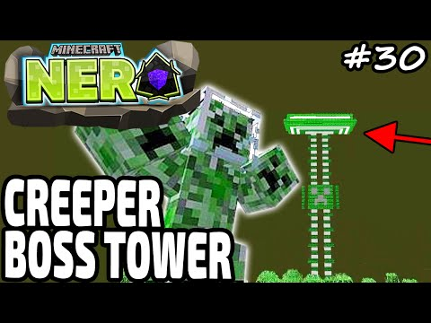 CREEPER BOSS TOWER ★ Minecraft NERO | Stadt Karamell