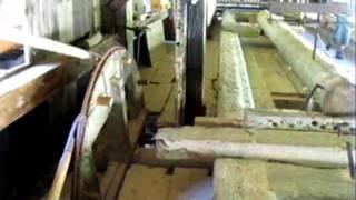 Historic Water Wheel Saw Mill Black Forest, Sägemühle im Schwarzwald
