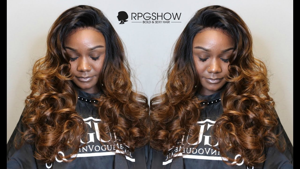 Brown Balayage Hairstyle Customized On 200 Hair Density Lace Front Wig By RPGShow Hairstylist