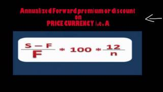 12  Annualized forward premium and discount on a currency