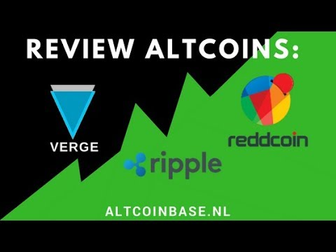 Review Reddcoin(RDD), Ripple(XRP) en Verge(XVG)