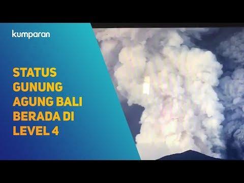 Status Gunung Agung Bali Berada di Level 4