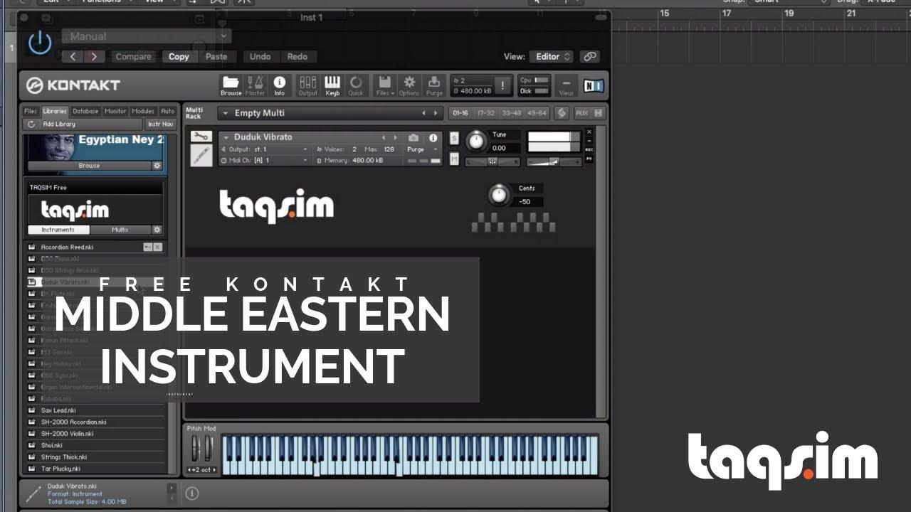 TAQSIM Free Kontakt Middle Eastern Instrument
