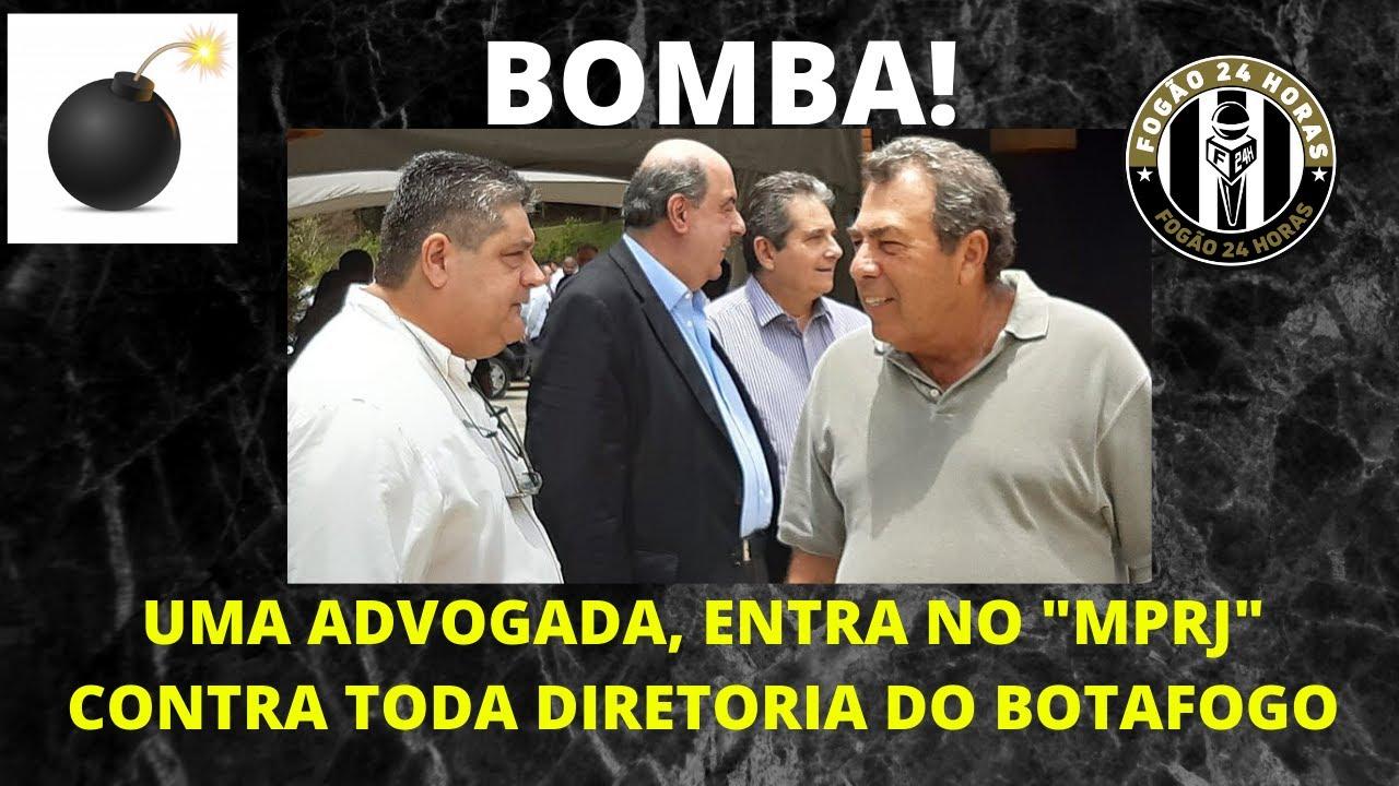"""BOMBA: UMA ADVOGADA, ENTRA NO """"MPRJ"""" CONTRA TODA DIRETORIA DO BOTAFOGO"""