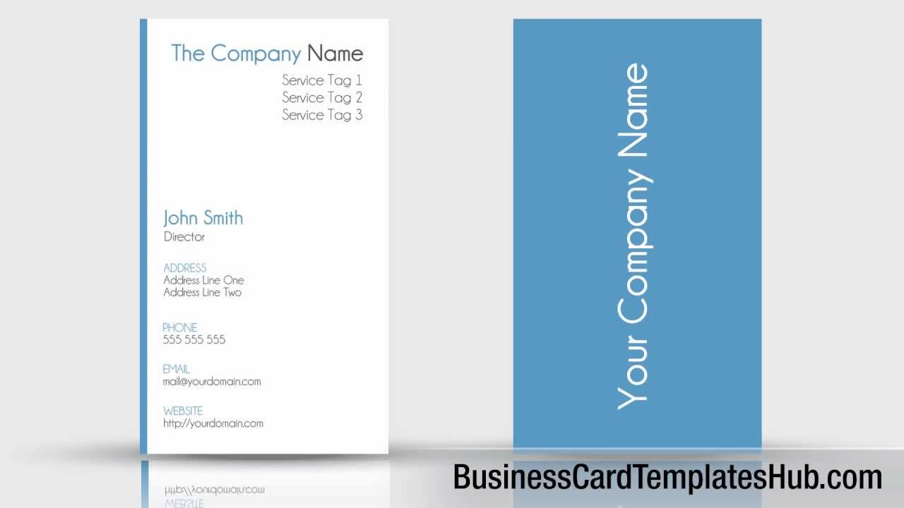 Simple Clean Vertical Business Card Template - YouTube