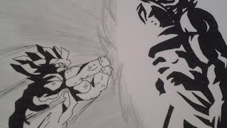 How to draw Goku vs Broly Step by Step