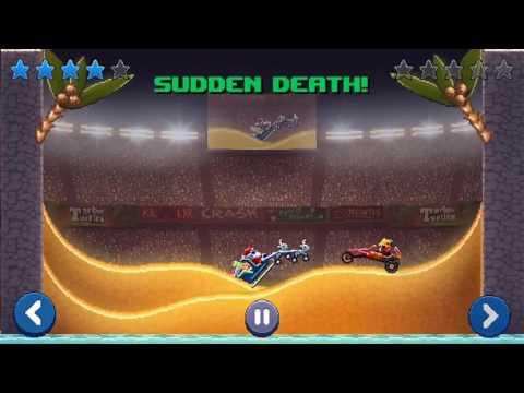 Drive Ahead! Replay: Santa's sleigh vs. Dune Buggy.