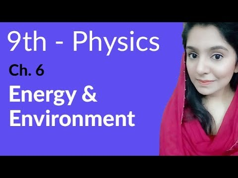 Energy & Environment - Physics Chapter 6 Work and Energy - 9th Class
