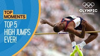 The Highest Ever Olympic High Jumps! | Top Moments