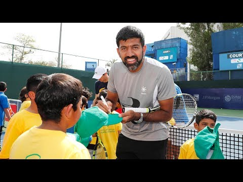 Bopanna Joins Young Tennis Stars at Tennis Emirates Clinic in Dubai