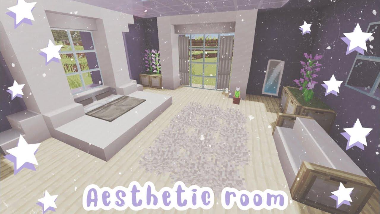 Minecraft Tutorial Of Cute Aesthetic Room Tutorials Youtube