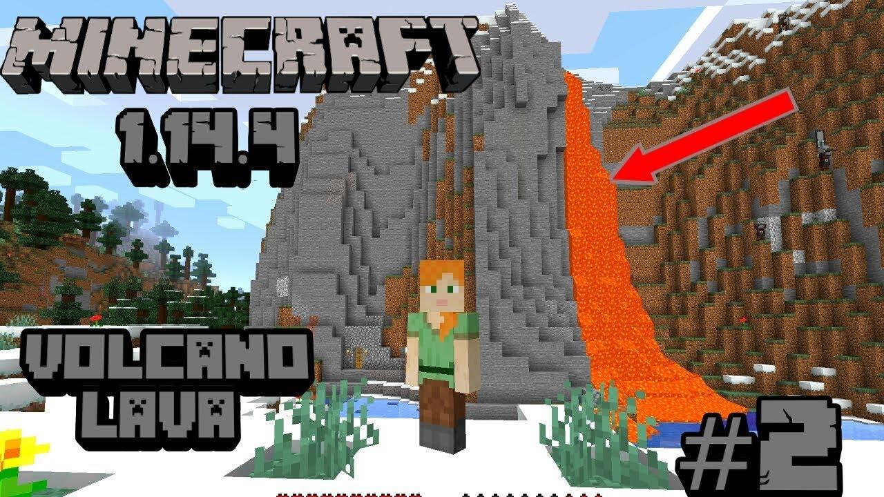 Minecraft v1.14.4 #2   VOLCANO LAVA Wala Base   ALL ONE'S GAMEROO - YouTube