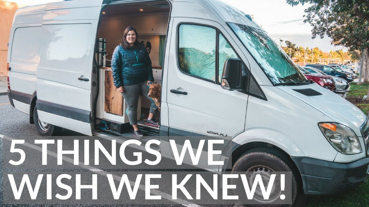 1d1b38ff7a TOP 5 things WE WISH we KNEW BEFORE living in a VAN - YouTube