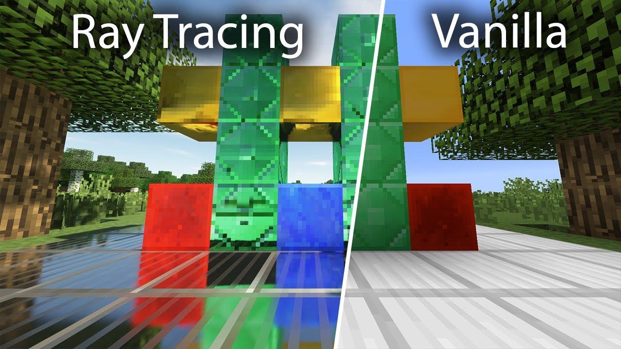 Minecraft Vanilla vs SEUS PTGI E8.8 Ray Tracing [8k/8FPS]