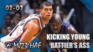 Michael Jordan Highlights vs Grizzlies (2002.11.23) - 20pts, Kicking Young Battier's Ass!