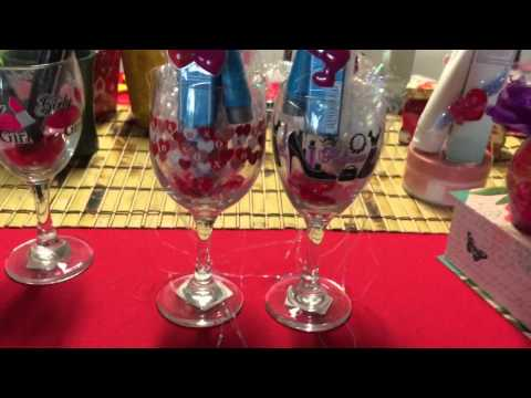 Baskets using Wine Glass Cups from Dollar Tree