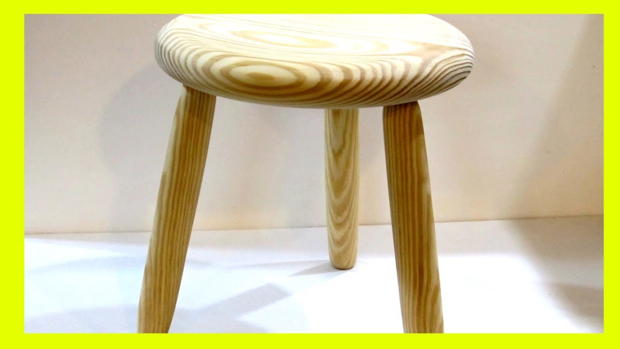 Turn A 3 Legged Stool Part 1 Of 3 Stool Series Youtube