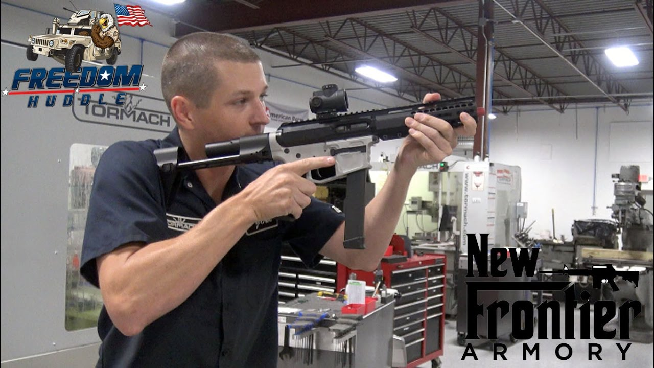 new frontier 9mm ar 15 sbr with mvb arc stock youtube