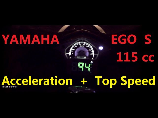 Yamaha Ego s 115cc Top Speed + Acceleration ( + GPS Speed )