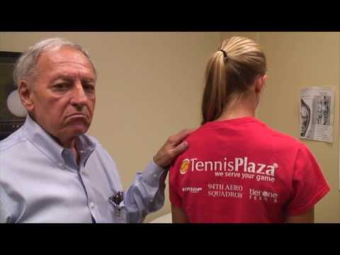 Treating and curing mild Scoliosis of Tennis players injury