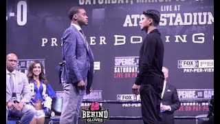LOOK AT THE SIZE! SPENCE & GARCIA FACE OFF IN LOS ANGELES!