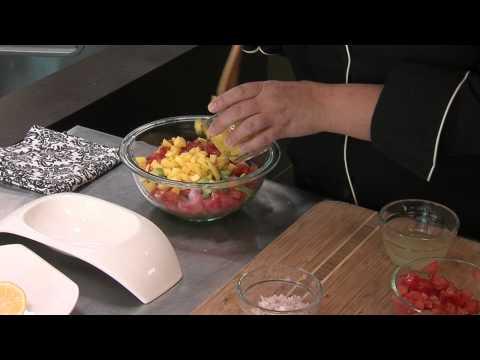 FRESH Ideas: Mango Avocado Salsa with Baked Halibut