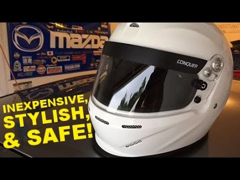 Conquer Snell SA2015 Approved Open Face Racing Helmet