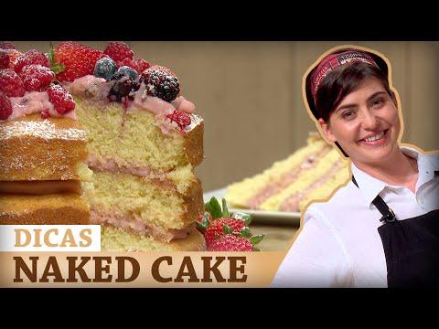 NAKED CAKE DE FRUTAS VERMELHAS Com Izabel | DICAS MASTERCHEF #MasterChef100