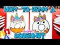 How To Draw A Cute Unicorn Doughnut