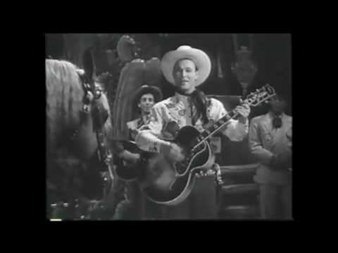 """Roy Rogers sings """"DON'T FENCE ME IN"""" in """"Hollywood Canteen"""" with TRIGGER"""