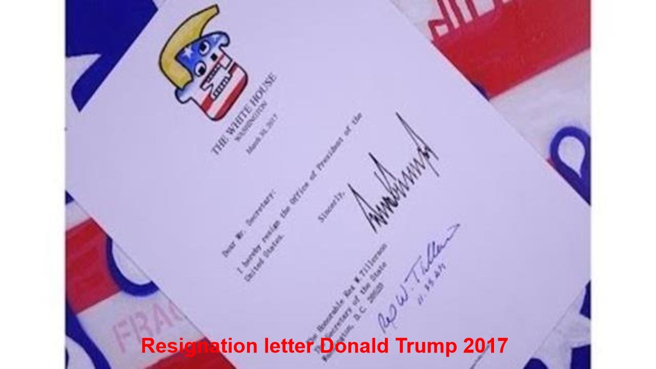 Resignation Letter President Donald Trump / Parody Nixon  Nixon Resignation Letter
