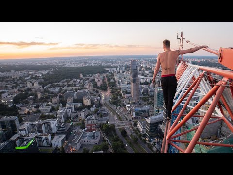AVOIDING Workers and Hitting BRIDGES in WARSAW (POLAND) 🇵🇱