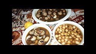 اروع طريقة لتحضير الد حمص و الحلزون  يما الحلزون