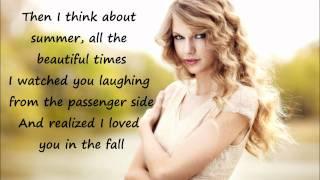 "Taylor Swift""Back To December""Karaoke/Instrumental"