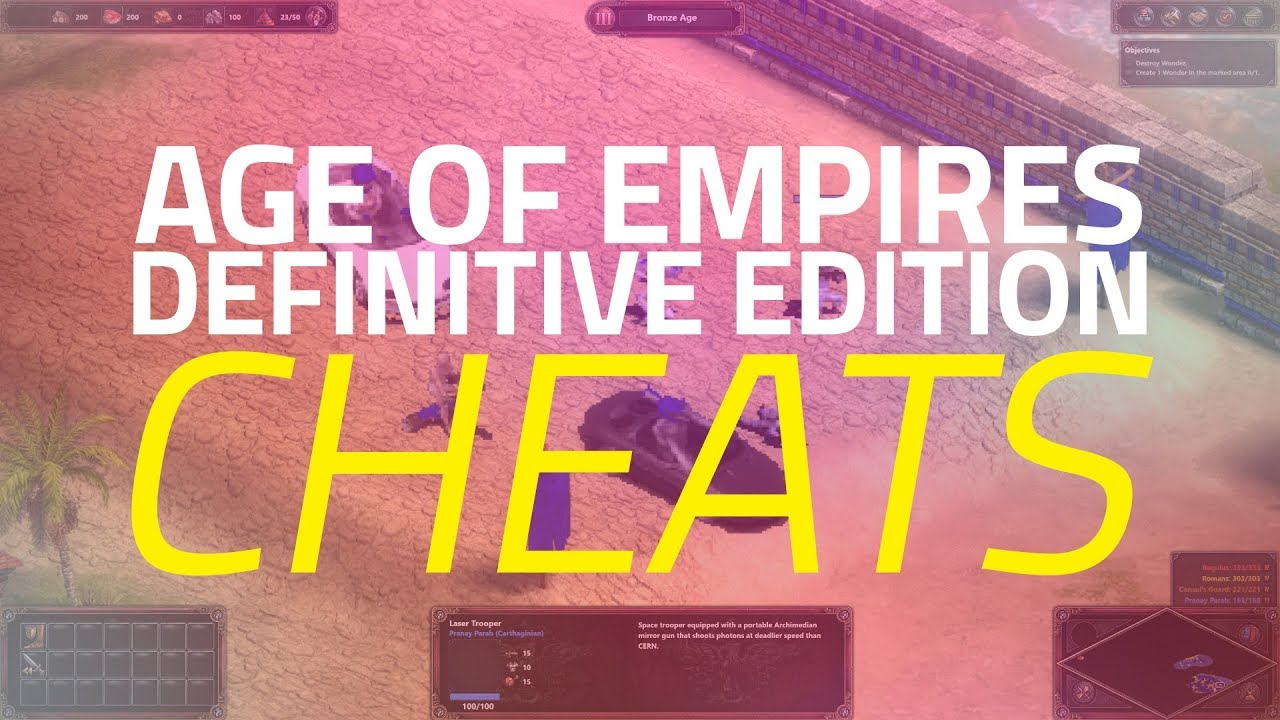 All Age of Empires: Definitive Edition Cheat Codes in One