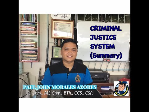Criminal Justice System (Summary Lecture)
