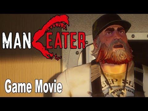 Maneater - Game Movie All Cutscenes [HD 1080P]