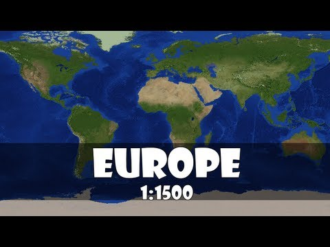 Europe 1:1500 Scale In Minecraft