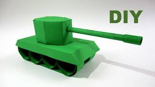 як зробити танк з паперу покроково