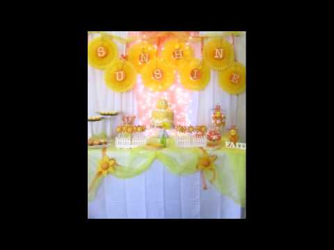 You are my Sunshine Birthday Party Ideas YouTube