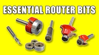 5 Essential Router Bits - Woodworking For Beginners #34