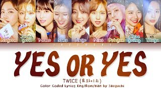 "Gambar cover TWICE (트와이스) ""YES OR YES"" (Color Coded Eng/Rom/Han/가사)"