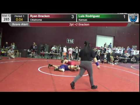 1246 Junior Men 285 Ryan Bracken Oklahoma vs Luis Rodriguez Kansas 2074637013