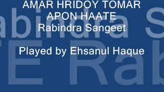 আমার হৃদয় তোমার আপন Amar Hridoy Tomar Apon রবীন্দ্রসঙ্গীত piano instrumental