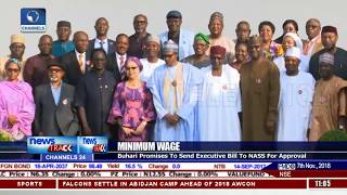 Buhari Promises To Send Minimum Wage Bill To NASS For Approval