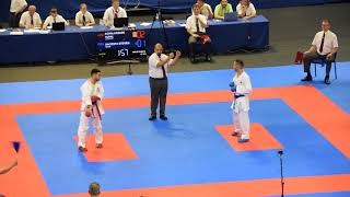 DACOSTA STEVEN vs AGHALARZADE TURAL, Karate 2018 European Championship