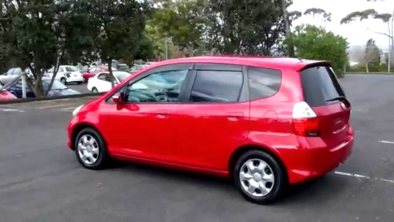 Honda Fit 2005 Red 1 3l Auto Youtube