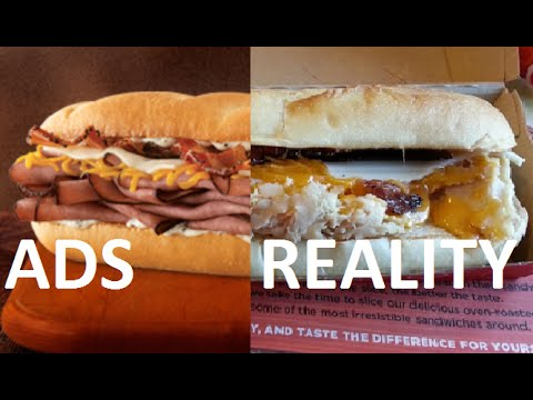 12 fast food items that look nothing like advertised - Ads VS Reality