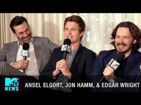 Ansel Elgort, Jon Hamm, & Edgar Wright Talk 'Baby Driver' | CinemaCon 2017 | MTV News